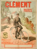 Early French Bicycle poster