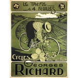 Early French bicycle poster for George Richard
