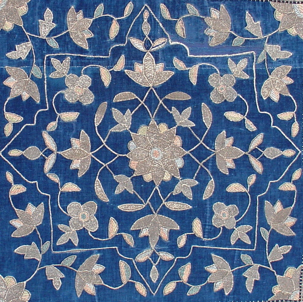 Antique Persian Embroidered Textile At 1stdibs