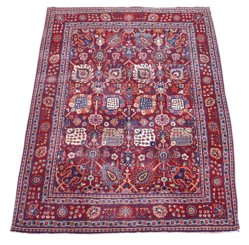 Polonaise antique oriental rugs - 19th Century Deep Colored Palette Tabriz Rug With 17th Century Kirman Design