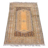 Turkish Kula Scatter Rug in Lovely Soft Gold Tones