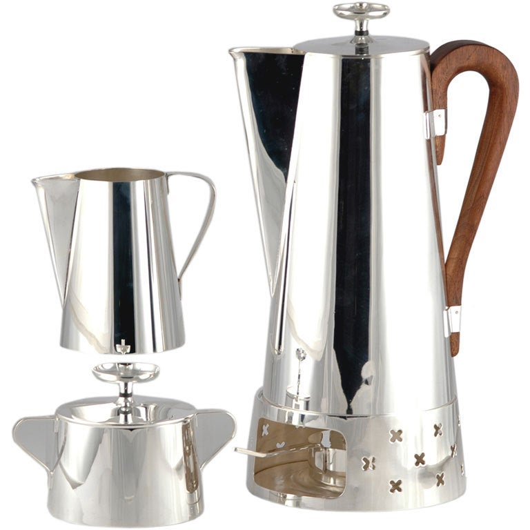 Tommi Parzinger 1953 Silverplate 3 Pcs Coffee Pot Set For ...
