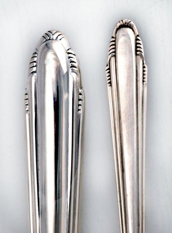 saarinen dominick haff sterling silver art deco flatware set see larger set 3