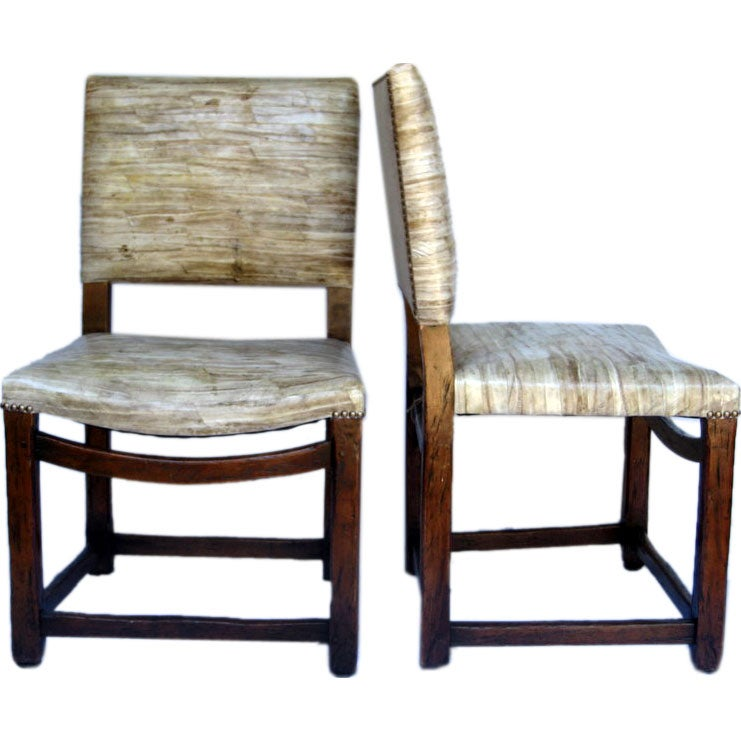 Set Of Four Chinese Mixed Wood Chairs At 1stdibs