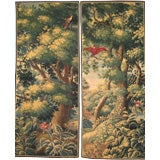 Pair of Antwerp Verdure Tapestry Panels