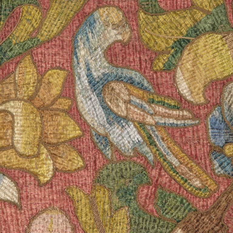 Mounted silk floss embroidery at stdibs