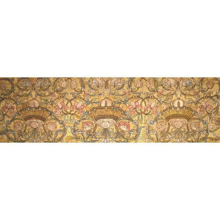 Silk Floss Embroidered Panel