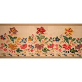 Mounted Crewelwork Valance