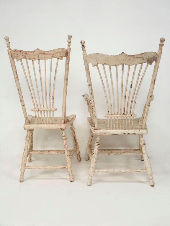 Painted Wood Dining Chairs At 1stdibs