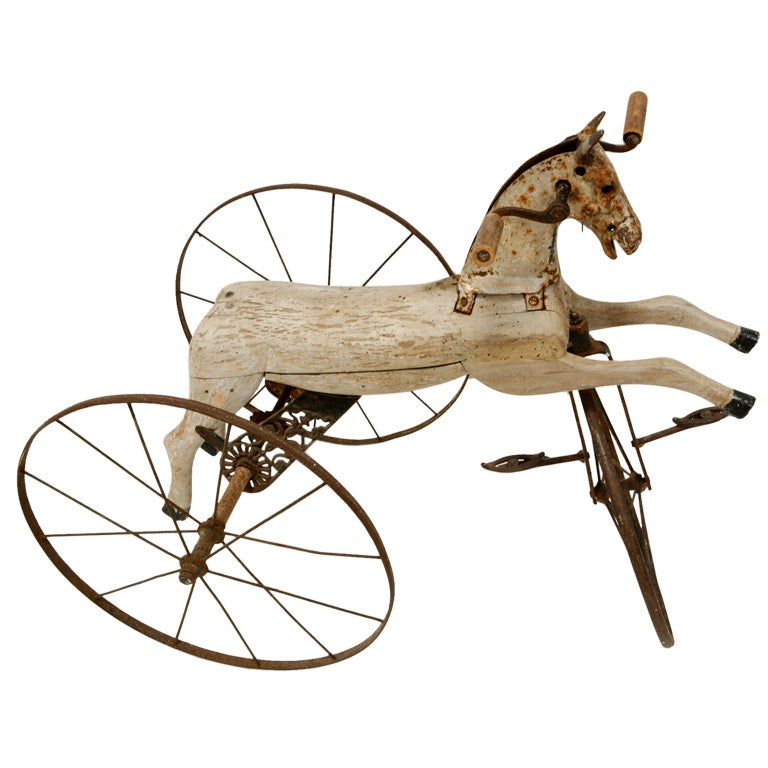 Wooden Horse Tricycle at 1stdibs