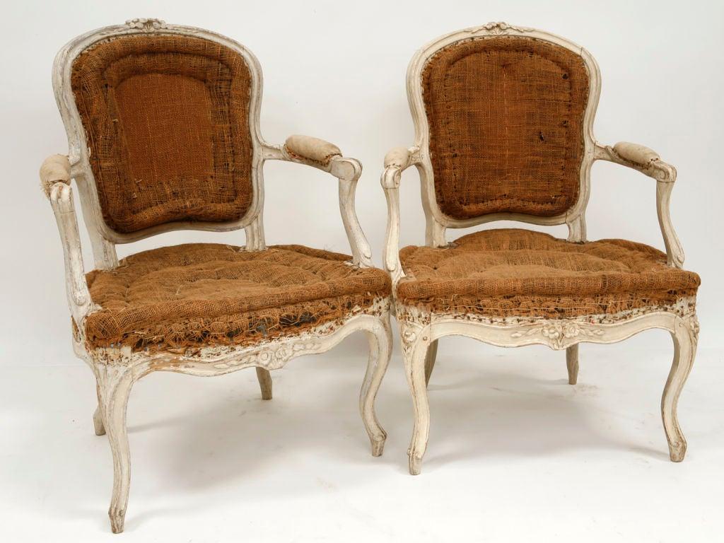 Pair Louis XV Arm Chairs at 1stdibs