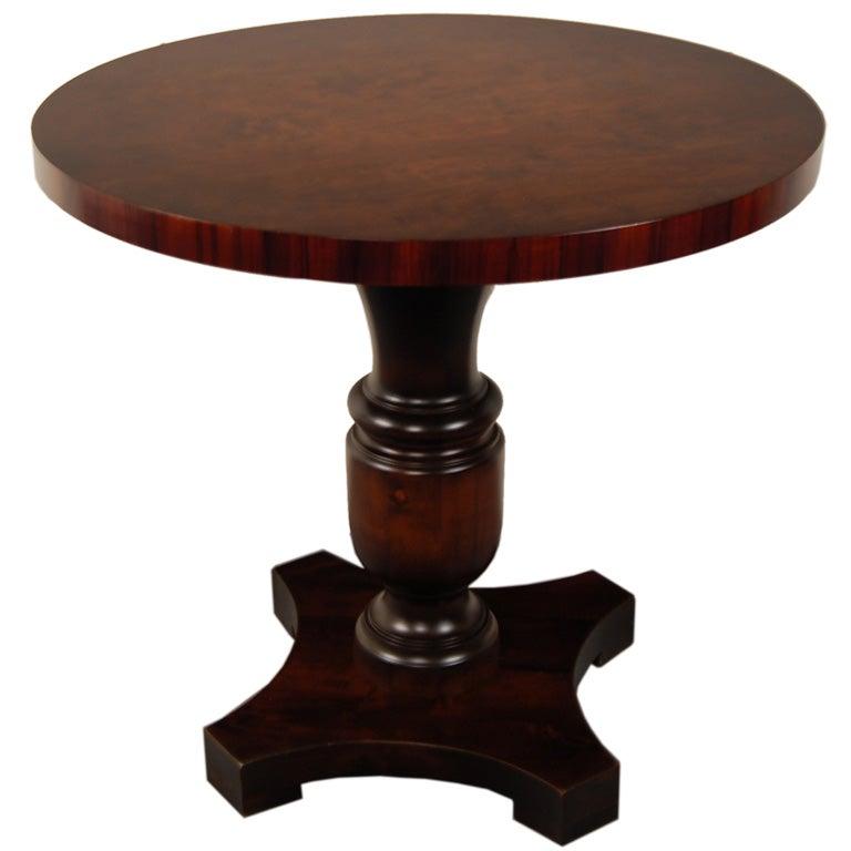 swedish art deco round pedestal end or side table at 1stdibs. Black Bedroom Furniture Sets. Home Design Ideas