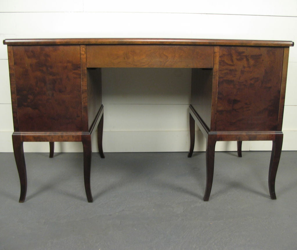 Swedish Art Deco Neoclassical Inlaid Writing Desk For Sale at 1stdibs