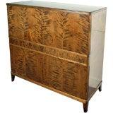 Swedish Art Deco Intarsia Storage Cabinet