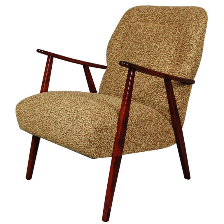 Vintage bent plywood thonet chair - Upholstery Sale Swedish Mid Century Modern Armchair At