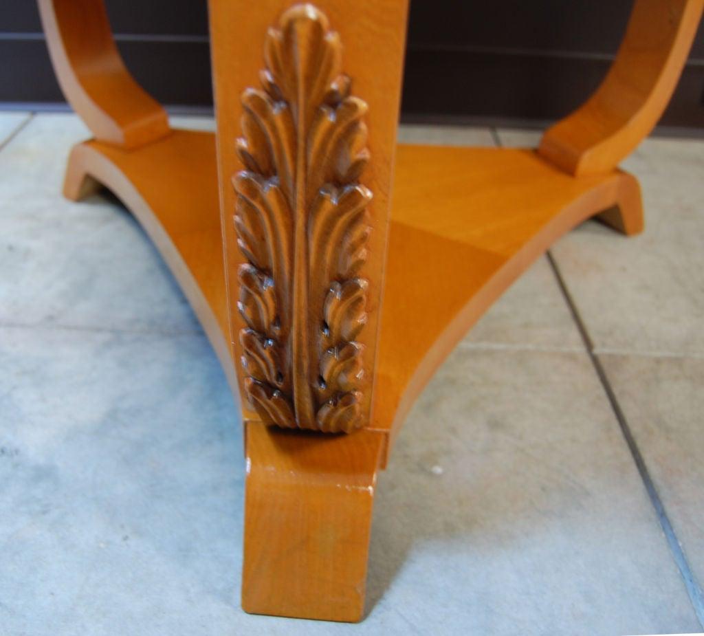 Swedish Art Deco Moderne Golden Elm End or Side Table For Sale 1