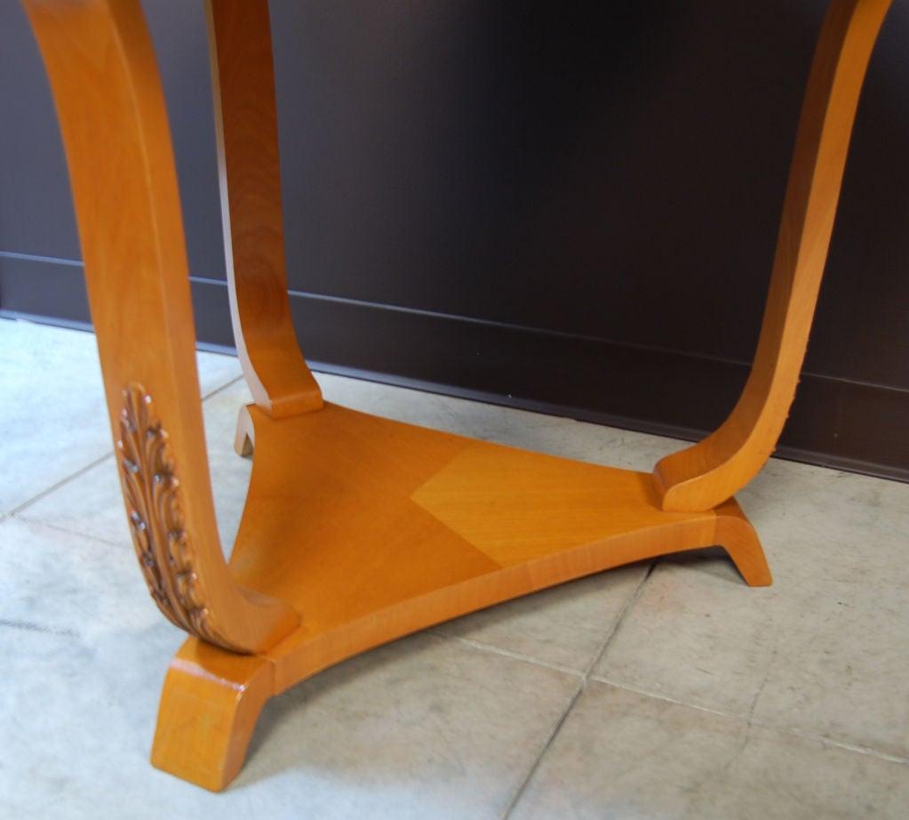 20th Century Swedish Art Deco Moderne Golden Elm End or Side Table For Sale