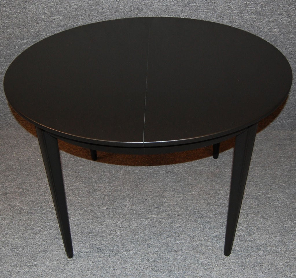 Swedish gustavian style round extension dining table at for Round extension dining table