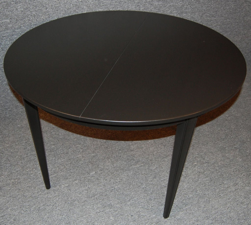 Swedish Gustavian Style Round Extension Dining Table at