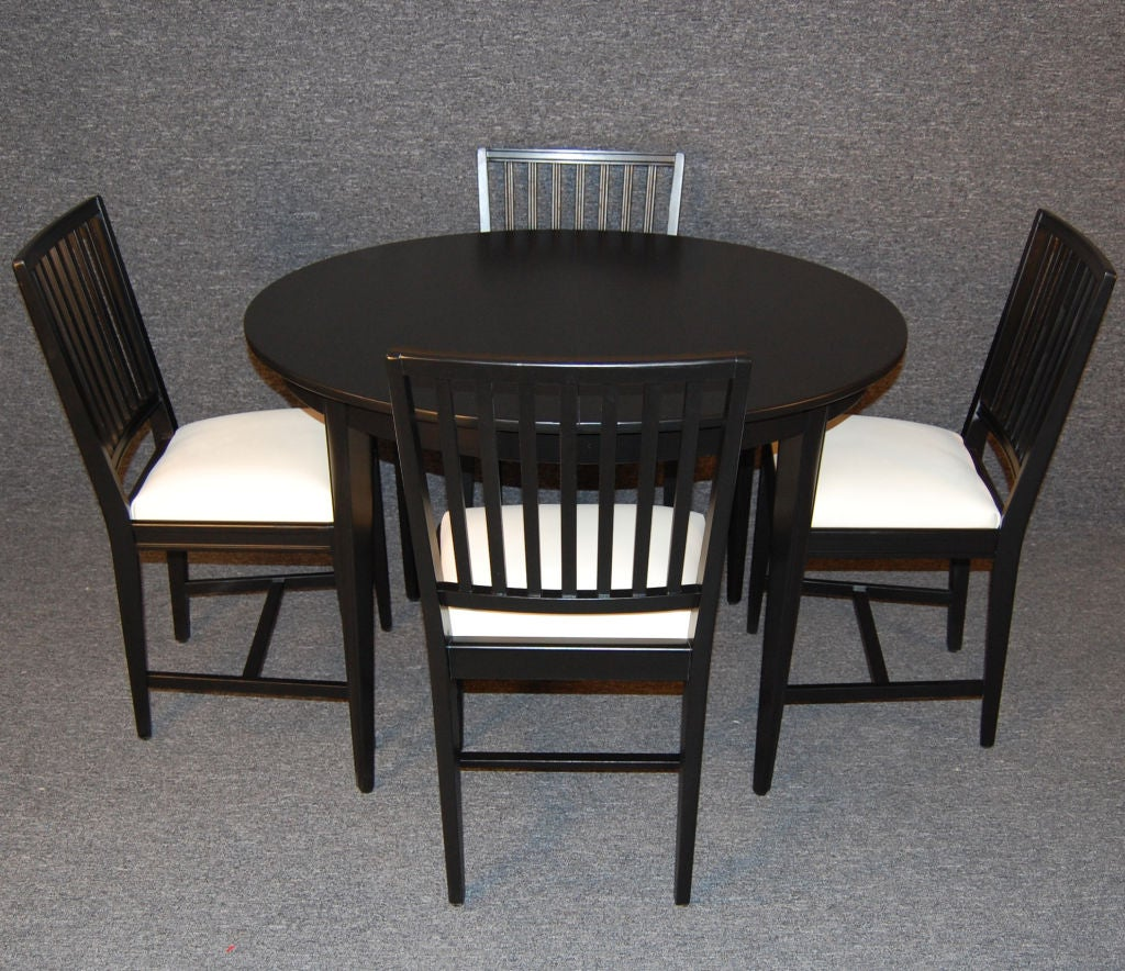 swedish gustavian style round extension dining table at 1stdibs. Black Bedroom Furniture Sets. Home Design Ideas