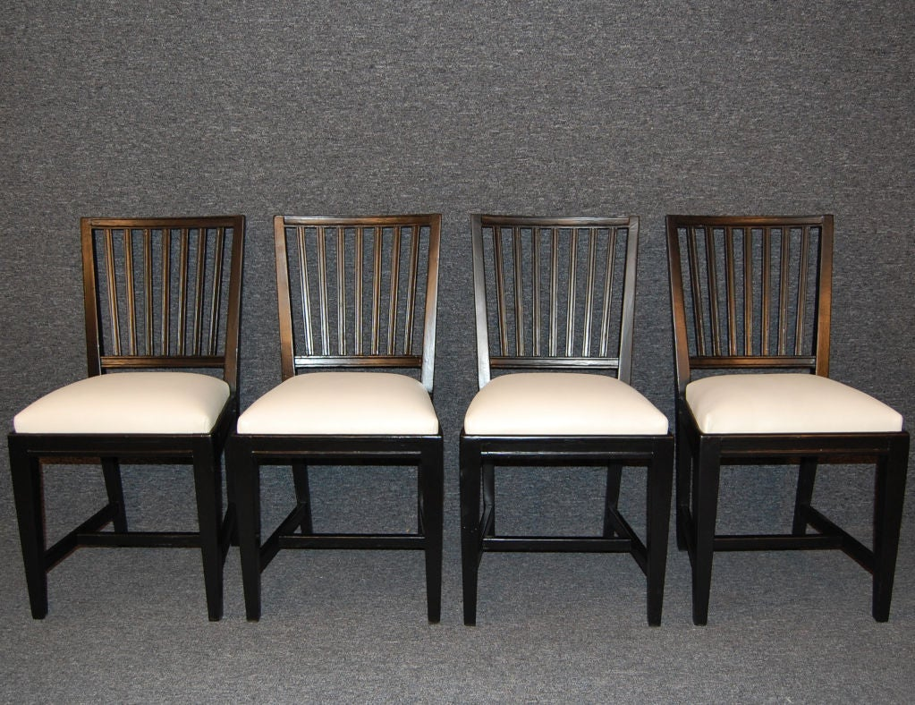 Sale set of eight vintage swedish gustavian style dining for Swedish style dining chairs
