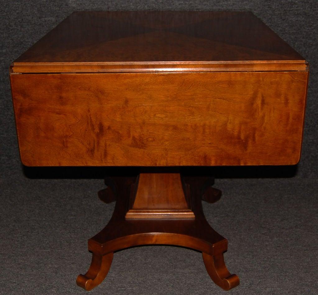 Swedish Karl Johan (Biedermeier) Drop-Leaf Center Table For Sale 4