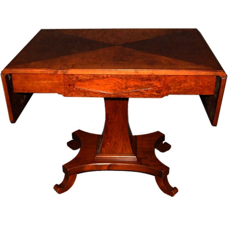 Swedish Karl Johan (Biedermeier) Drop-Leaf Center Table For Sale