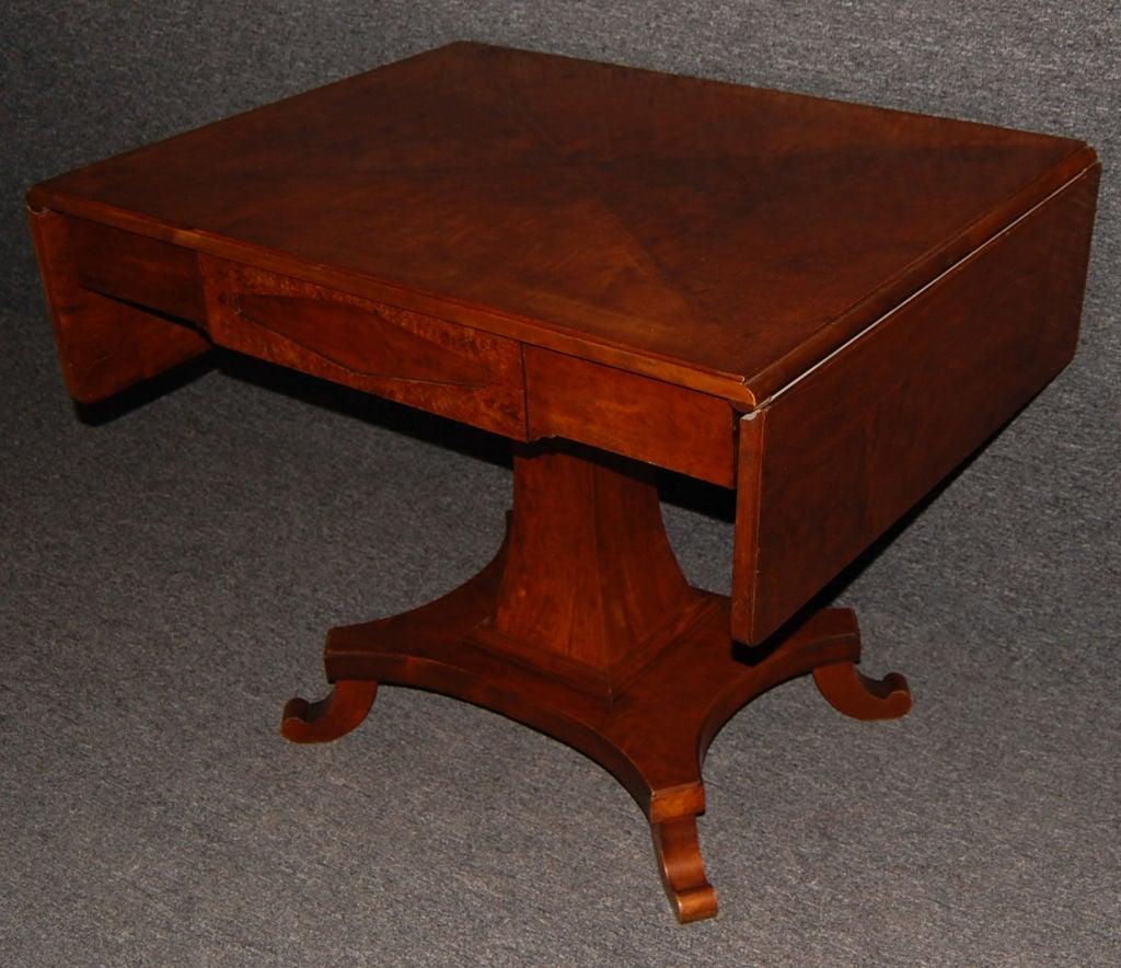 Swedish Karl Johan (Biedermeier) Drop-Leaf Center Table For Sale 2