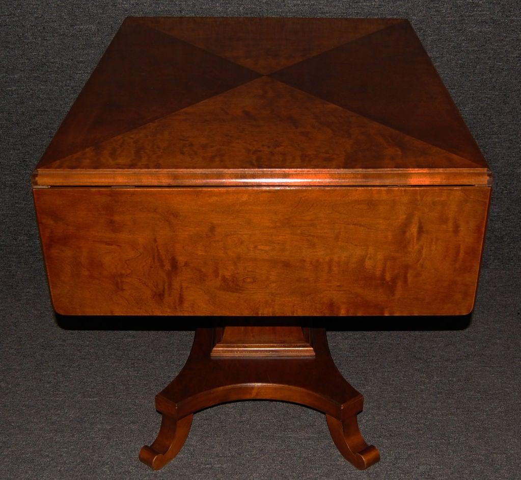 Swedish Karl Johan (Biedermeier) Drop-Leaf Center Table For Sale 3