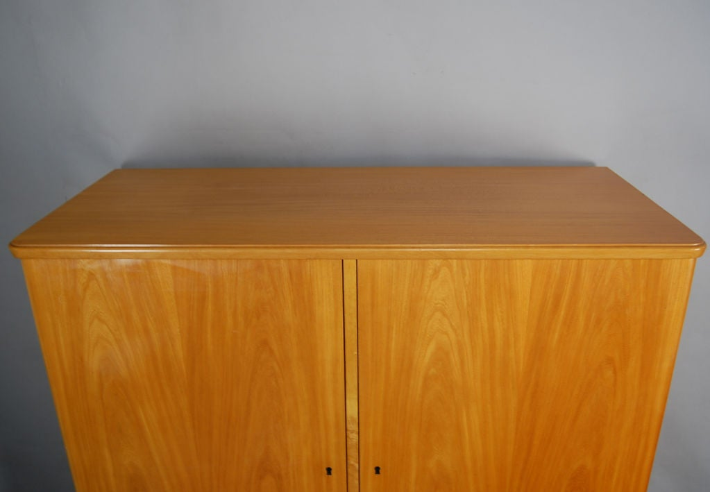 swedish art moderne elm armoire storage cabinet for sale at 1stdibs. Black Bedroom Furniture Sets. Home Design Ideas