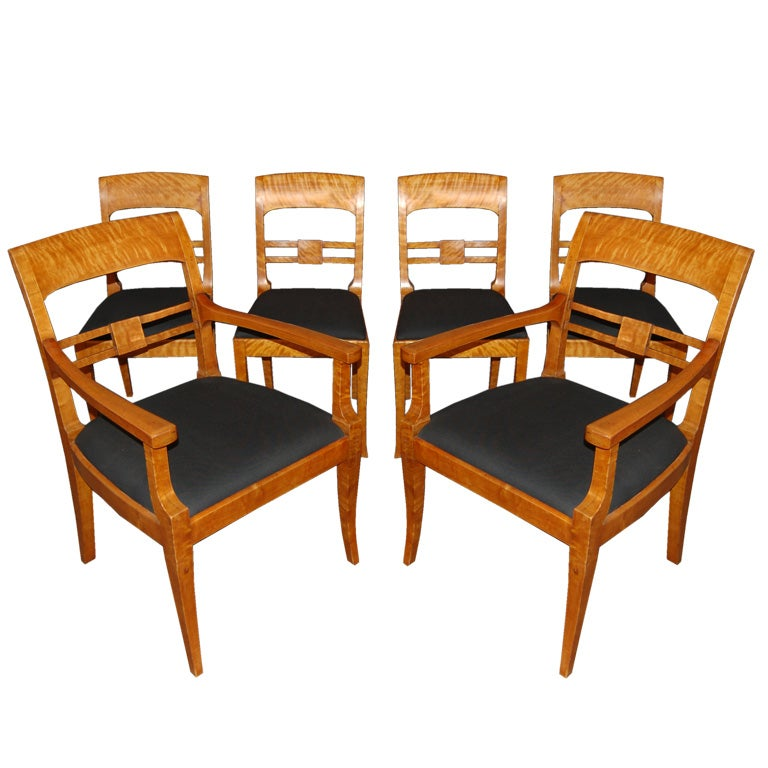 birch dining chairs set of six swedish jugendstil and karl johan birch dining 1660