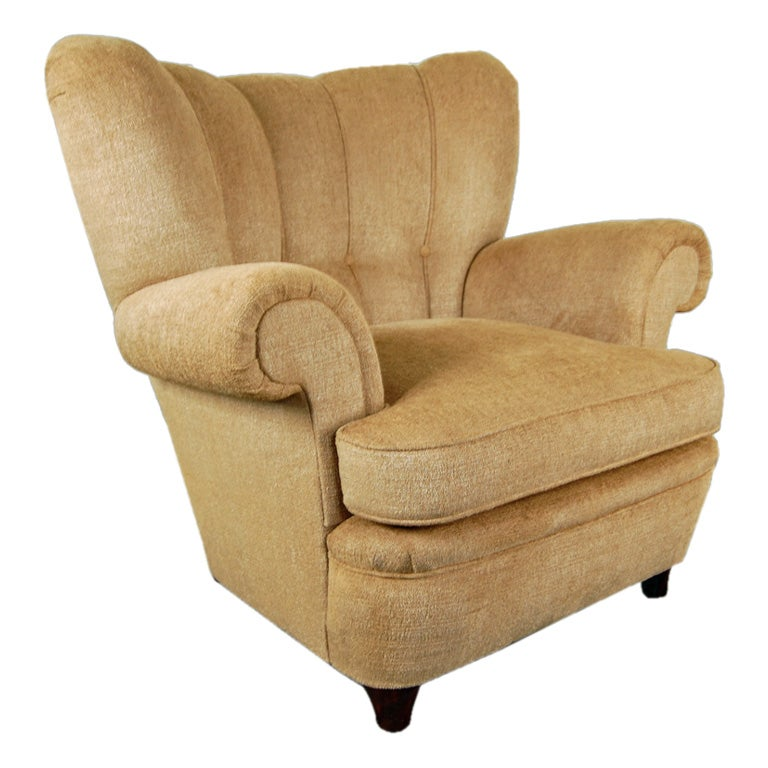 SALE Swedish Art Moderne Tufted Club Arm Chair at 1stdibs