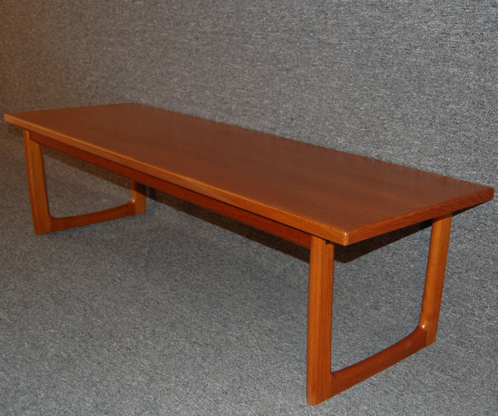 Teak Burger Coffee Table: Swedish Mid-Century Modern Teak Coffee Table Or Bench For