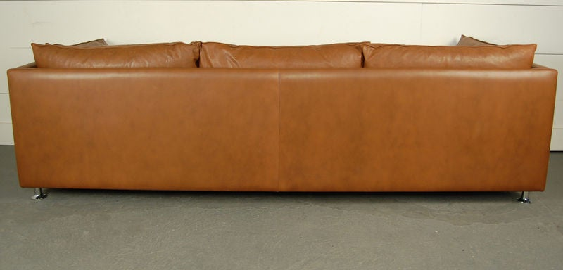 Vintage Swedish Mid-Century Modern Leather Couch Sofa 1