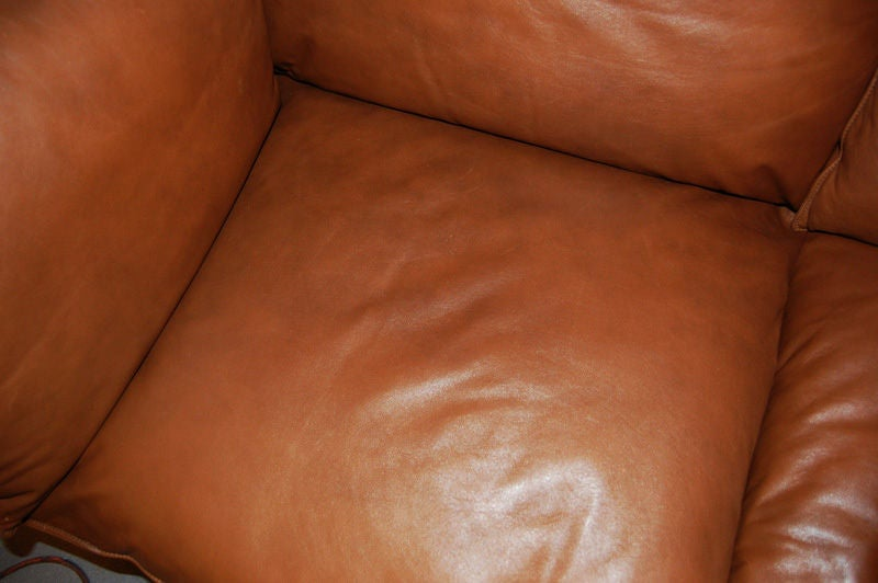 Vintage Swedish Mid-Century Modern Leather Couch Sofa 2
