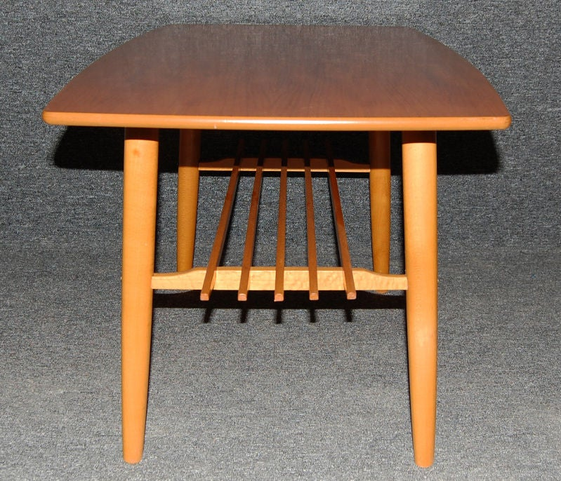 Teak Coffee Table And End Tables: Swedish Mid-Century Modern Teak Coffee Or End Table At 1stdibs