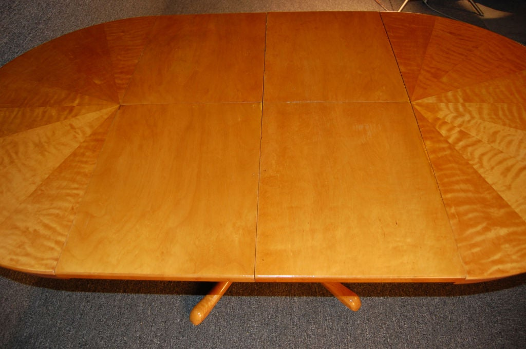 Swedish Art Moderne Flame Birch Extension Game Or Dining