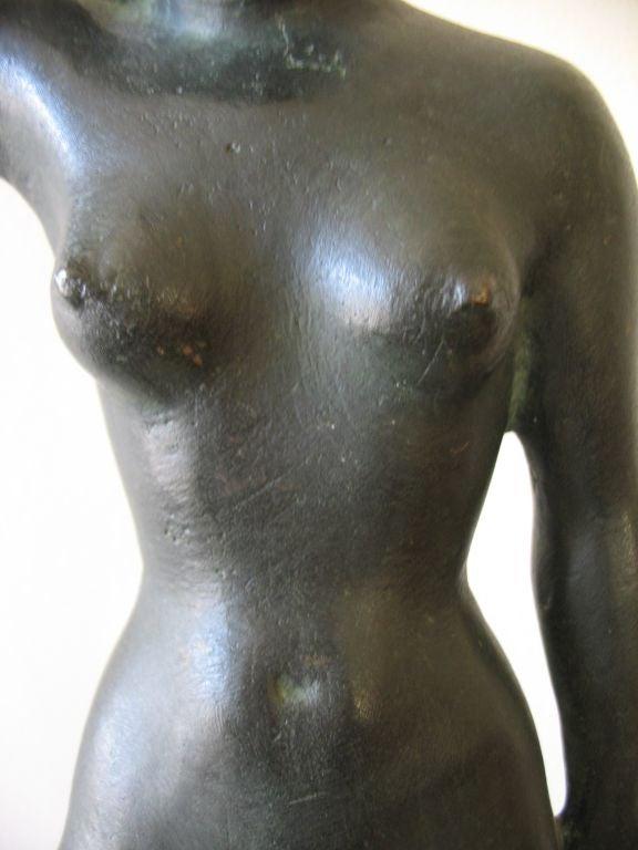 Vintage Swedish Nude Bronze Sculpture by Arvid Kallstrom, circa 1954 image 6