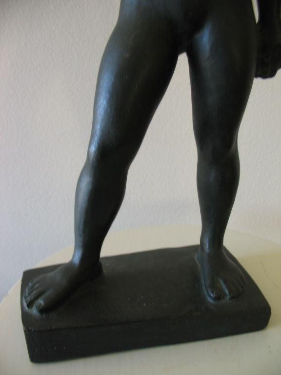 Vintage Swedish Nude Bronze Sculpture by Arvid Kallstrom, circa 1954 image 7