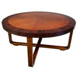 Swedish Art Deco Moderne Round Coffee Table