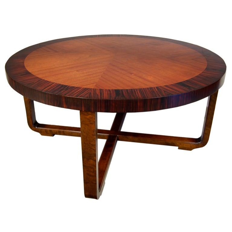 Art Deco Coffee Table Brisbane: Swedish Art Deco Moderne Round Coffee Table At 1stdibs
