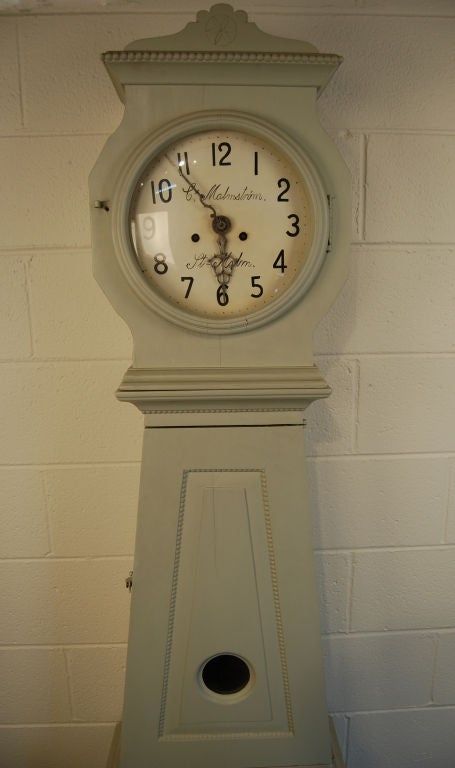 Antique Swedish Gustavian Floor Clock By C Malmstrom For