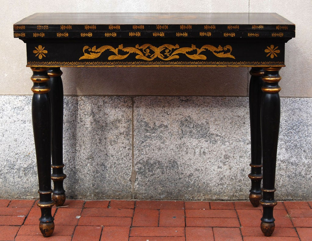 Philadelphia Painted Card Table, circa 1820 image 2