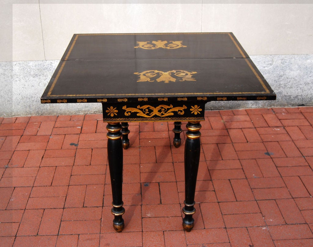 Philadelphia Painted Card Table, circa 1820 image 4