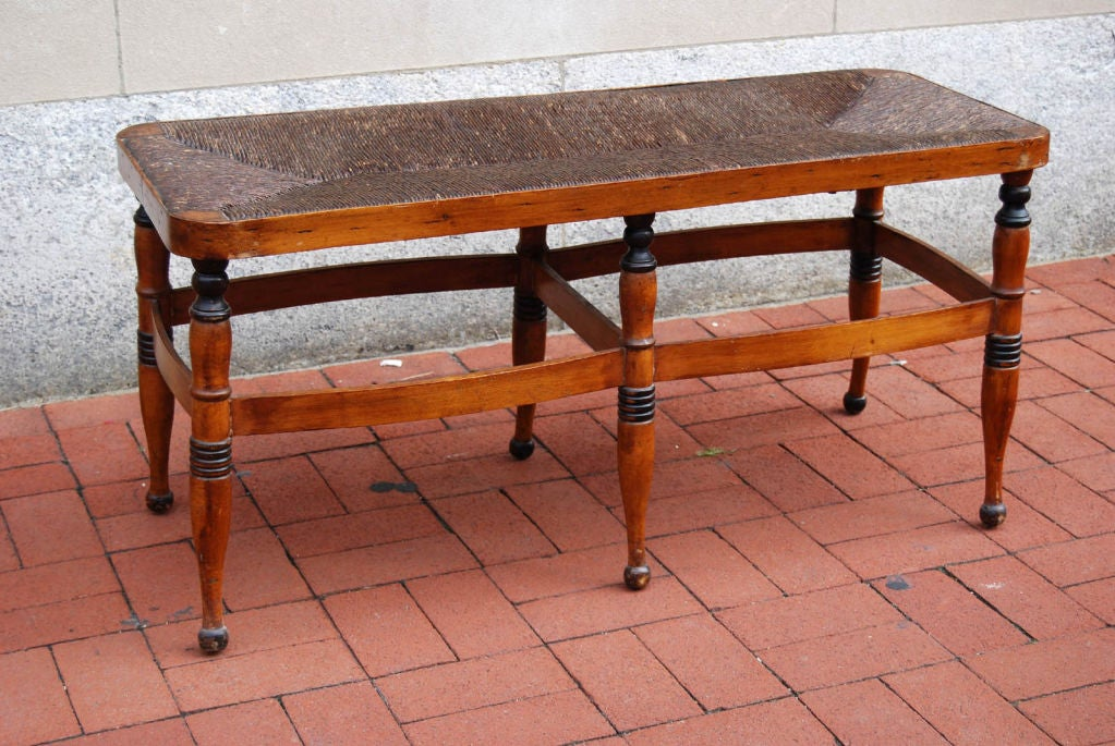 Early 19th Century Sheraton Fancy Bench At 1stdibs