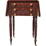 Fine American Work Table with Pullout Gameboard, circa 1820