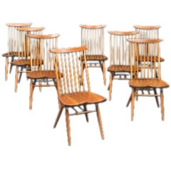 Set of six New Chairs by George Nakashima