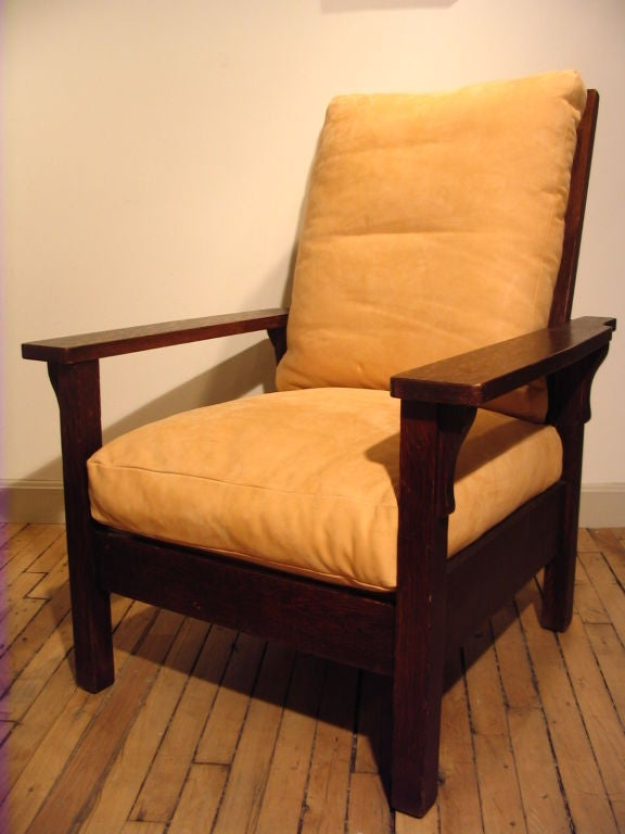 Arts And Crafts Mission Oak Reclining Morris Chair By