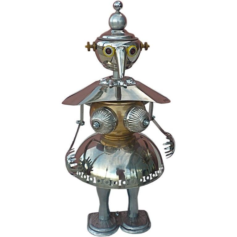 Robot Sculpture By James Bauer At 1stdibs