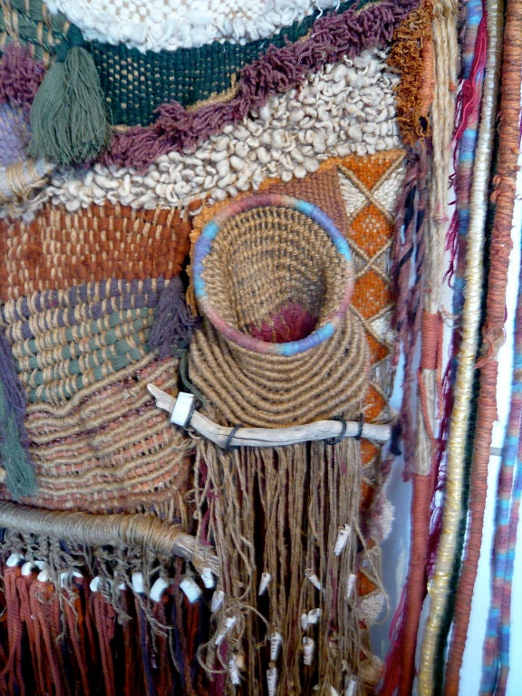 60 39 s hippie tapestry weaving by edith zimmer at 1stdibs - Hippie zimmer ...